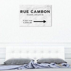 📸🆕🆒 Oliver Gal ღ Paris Road Sign Canvas Print ღ